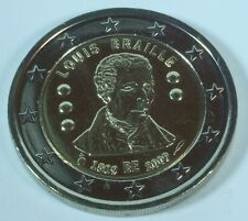 Belgien 2 Euro Gedenkmünze 2009 Louis Braille unz.-bfr.