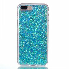Bling Glitter Crystal Clear Soft TPU Rubber Case For Samsung Huawei XiaoMi LG