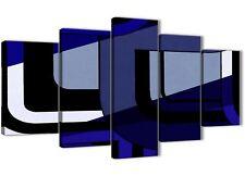 5 PEZZI Indigo Blu Navy Pittura Astratta Tela Arredamento ufficio - 5411 - 160 cm