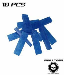 Skullteria Blue Stuff Instant Mold Wiederverwendbare Sofort Abformmasse 10 Stück