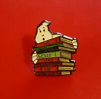 Ghostbusters Pin Ghost Books Cult Classic Movie Enamel Metal Brooch Badge Lapel