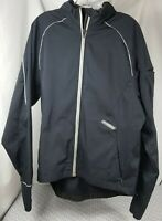 Sugoi Mens Black Long-Sleeve Cycling Bike Jacket Size L Large Extended Back