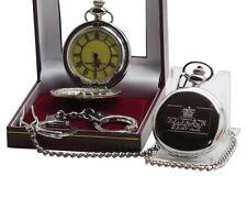 HMP PRISON Pocket Watch Jail Warden Officer Luxury Gift  Set Handcuffs Keyring