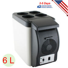 Portable 12V 6L Car Refrigerator Auto Electric Cooler Warmer Fridge for Travel