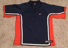 Vtg Nike Team Basketball 1/2 Zip Warm Up Shooting Shirt Jersey SZ M Illinois