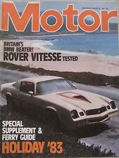 Motor magazine 29/1/1983 featuring Rover SD1 Vitesse road test, Peugeot
