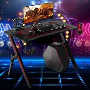 """43.3"""" Game Table Professional Computer Table With Cable Management w/ Cup Holder"""