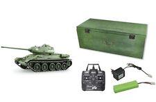 RC Panzer T-34/85 R&S/2.4GHZ/Holzbox Metallketten/Metallgetriebe/QC 23057