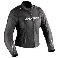 Ixon Diamond Ladies Womens Leather Motorcycle Motorbike Jacket Black  XL