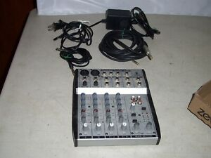 BEHRINGER EURORACK MX602A 6 Channel 2 Bus Mixing Console