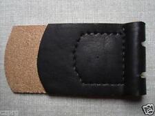 WWII German belt buckle leather tab black unmarked