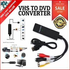USB Video Capture Converter Analog To Digital VHS V8 S Video PC Windows NTSC PAL