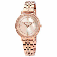 Michael Kors MK3643 Crystal Rose Gold Cinthia Mother of Pearl Ladies Wrist watch