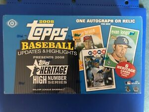 2008 Topps Updates and Highlights Factory Sealed Hobby Box Kershaw