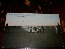 Branding An Outlaw Steer On The Open Range - Rare Old Cowboy Postcard