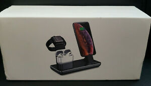 3 in 1 Wireless Charging Station/Dock For Apple Watch/ iPhone/Air Pods NEW