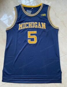 Jalen Rose 5 Michigan Wolverines University Basketball Jersey Mens Stitched Blue