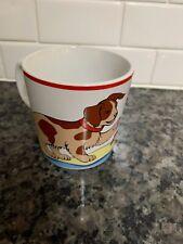 "Tiffany & Co Cup Nursery Rhyme ""Hey Diddle Diddle"" Porcelain Dog Cup Mug"