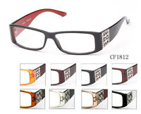 Retro Style Clear Lens Glasses Classic Rectangle Designer Eyewear UV Protected