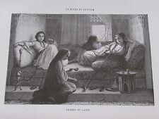 Gravure du XIXè siècle. Egypte. Femmes du Caire. F.Pannemaker. 1860