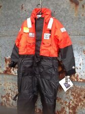 Stearns I580 Orange & Black Industrial Flotation Coveralls new with tags