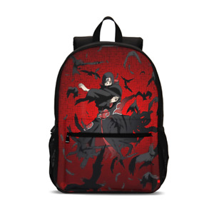 Naruto0 Teenagers 4PCS School Backpacks Set Pen Bag Lunch Bag Crossbody Bag Lot