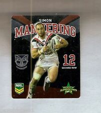 TIP TOP NRL 2013 RUGBY LEAGUE FOOTY SUPERSTARS CARD #29 SIMON MANNERING, WARRIOR