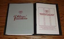 Original 1988 Cadillac Deville / Fleetwood Owners Operators Manual w Case 88