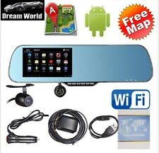 New Android 4.4 Car Rear view Mirror Navi GPS + 1080P DVR + Wifi + Backup Camera