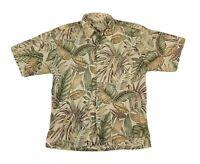 Tori Richard Honolulu Hawaiian Floral Button Down Short Sleeve Shirt  Large