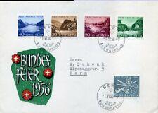 416386) Schweiz Pro Patria FDC Nr. 627-631 a. Schmuckumschlag 1956, 55,-