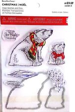 Christmas Polar Bear Clear Stamp & Die Set by Recollections 529320 New!