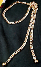 """SNAKE GOLD CHAIN open ball end; length 41"""" Unisex Mixed metals Costume jewelery"""