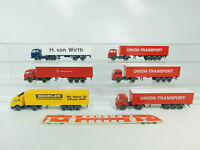BO685-0,5# 6x Wiking H0/1:87 Sattelzug MB: Union-Transport + Wackler + Wirth etc