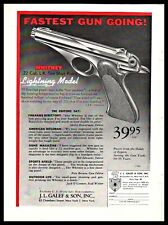 1957 Whitney Lightning Model .22 Vintage Pistol Ad Gun Advertising w/orig price