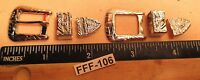 2 Sets of 3 Piece BUCKLE SETS Light Weight Silver Old Store Inventory