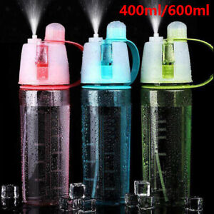 400/600ML Water Bottle With Straw Drink Spray Cup Cycling Hiking Outdoor Sports