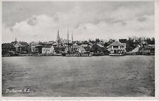 Shelburne NS Nova Scotia ~ Town View Water Harbour c1944 Vintage RPPC Postcard