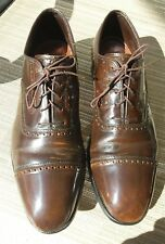 JOHNSTON & MURPHY Cap Toe Oxfords MADE IN USA Shoes Size 11D. Rare Shoe Vintage