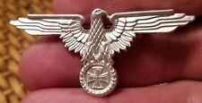 REPRODUCTION WWII THIRD REICH VETERANS ASSOCIATION IRON CROSS BADGE-SILVER TONE