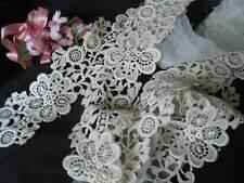 Vintage Antique Schiffli Applique Lace Trim Yardage Unused Lovely!