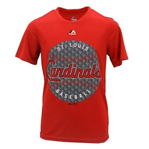 St. Louis Cardinals MLB Majestic Cool Base Youth Size Athletic T-Shirt New Tags