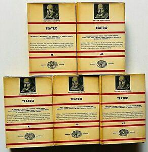 William Shakespeare Teatro Einaudi NUE 5 volumi Opera completa 1964 Melchiori