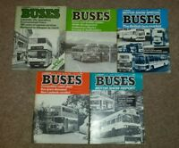 11 issues of Buses magazine from 1981
