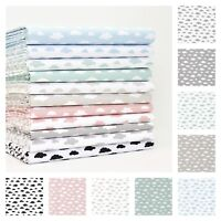 All New Pastel Cloud Fabric 100% Cotton Patchwork Dressmaking Children  Quilting