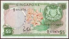 SINGAPORE  5 Dollars  ND (1967-73)