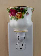Royal Albert OLD COUNTRY ROSES  Custom Made Tea Cup Night Light NO HANDLE