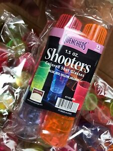 Shot Glasses Shooters by Fineline Settings - Colored 1.5oz 22 Bags Of 12