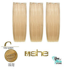 3 fasce extension clip SHE Easy 20 50 55cm capelli veri umani lisci mesciati
