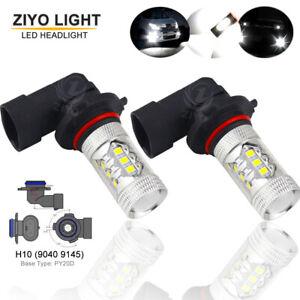 H10 LED Fog Light Bulb 9140 9145 Bulbs 6000K Xenon White Day Time Running Lights